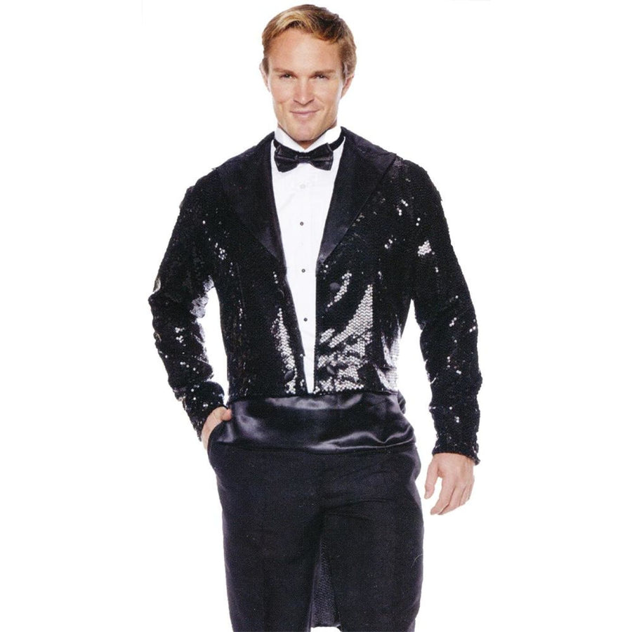 Sequin Tails Mens Costume Black Xxl - Halloween costumes Mens Costumes Mens Plus