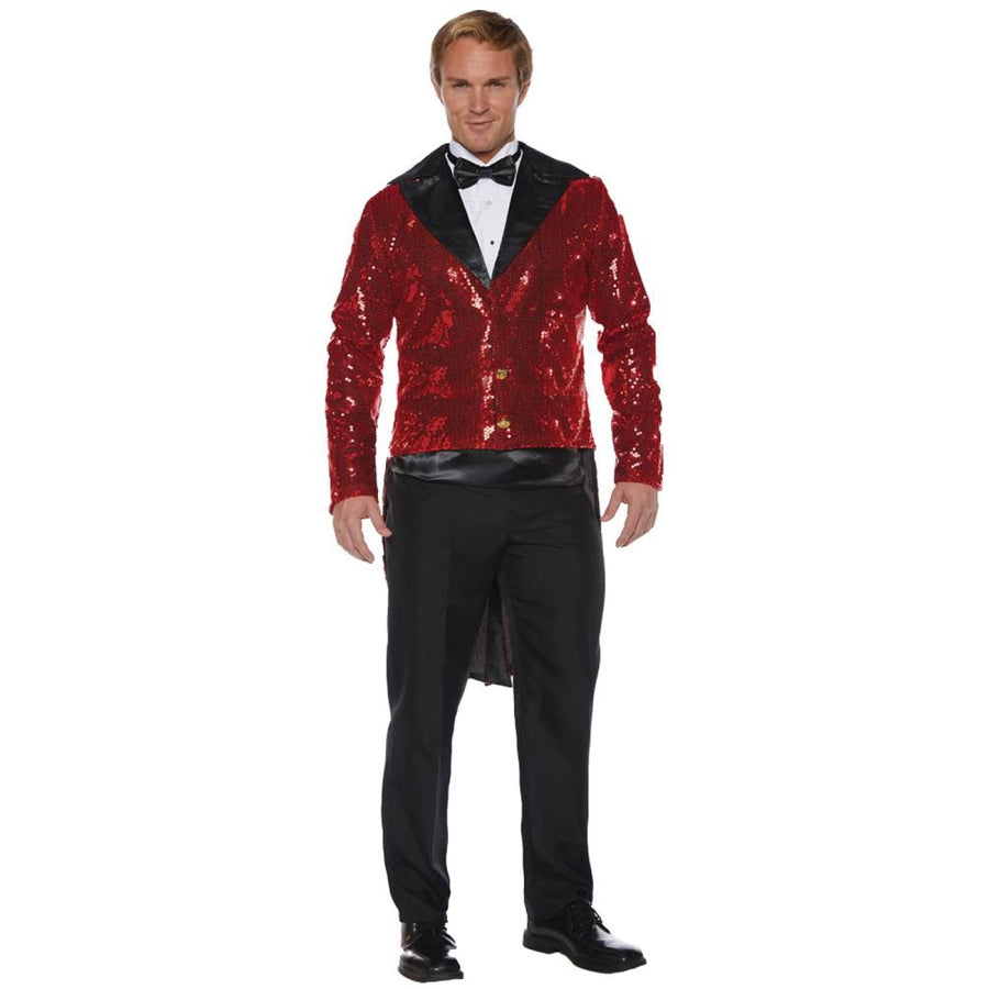 Sequin Tails Mens Costume Red Std - Halloween costumes Mens Costumes New Costume