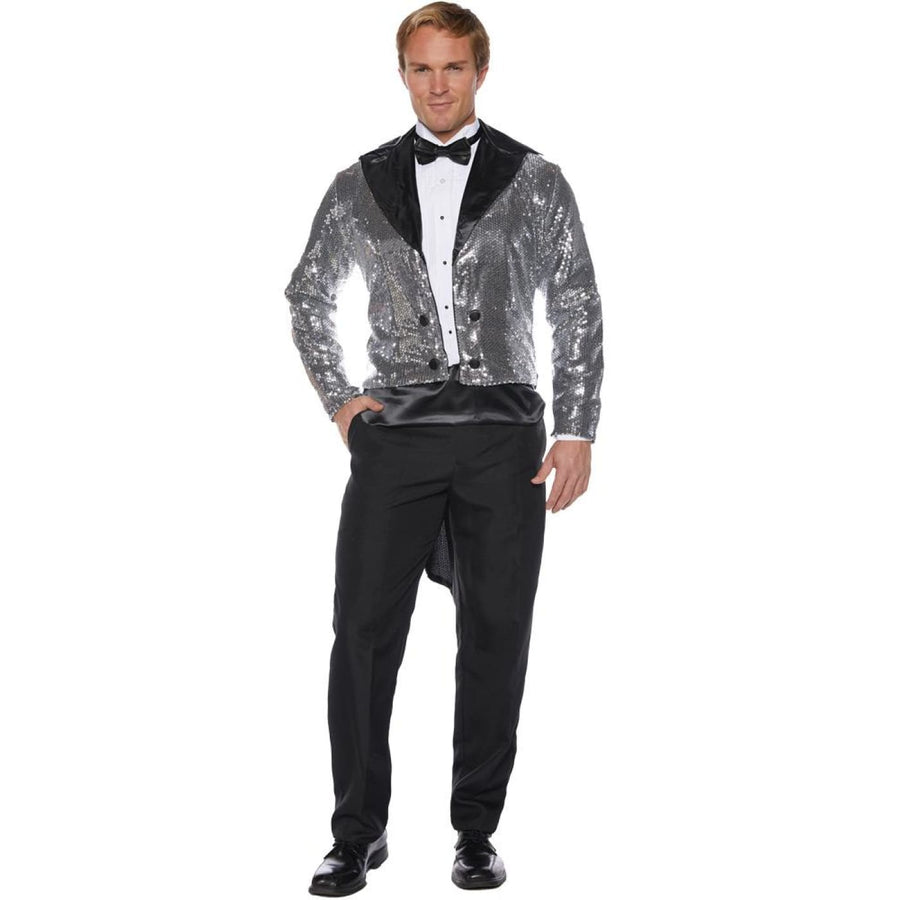 Sequin Tails Mens Costume Silver std - Halloween costumes Mens Costumes New