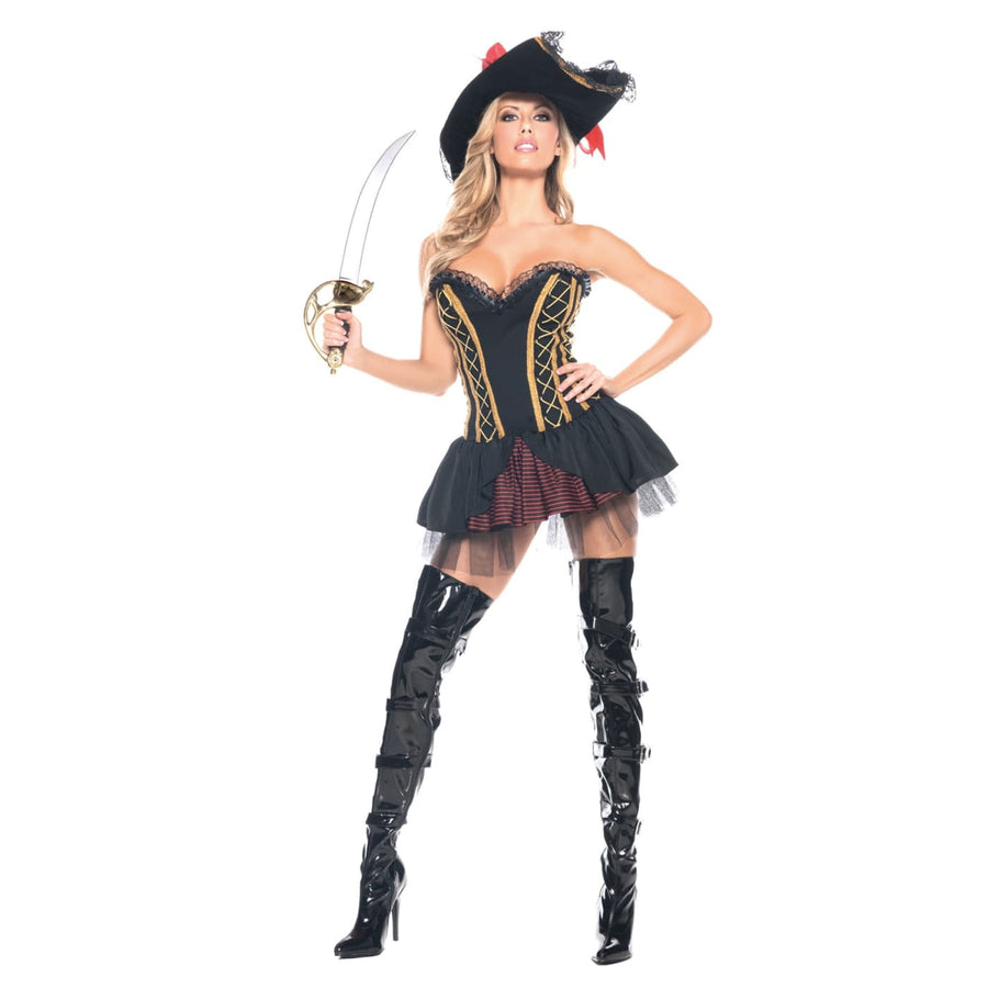 Seven Seas Pirate Adult Costume Med Lg - adult halloween costumes female