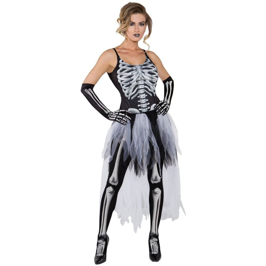 Sexy Skeleton Adult Costume Small - Ghoul Skeleton & Zombie Costume Halloween