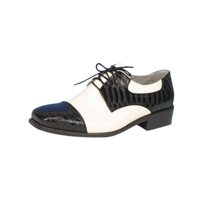 Shoe Oxford Black And Wt Men Sm - 20s - 40s Costume Halloween costumes Shoes &