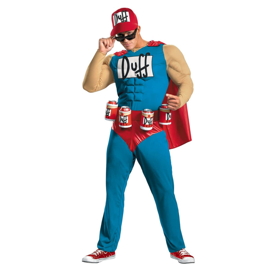 Simpsons Duffman Muscle 42-46 - adult halloween costumes halloween costumes male
