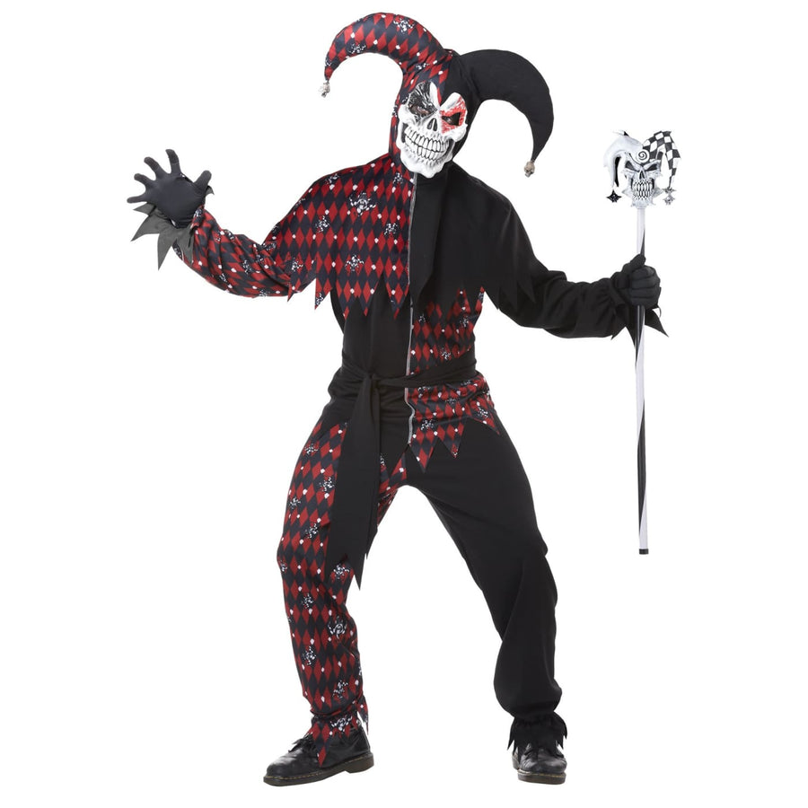 Sinister Jester Adult Costume Xlarge - adult halloween costumes clown costumes