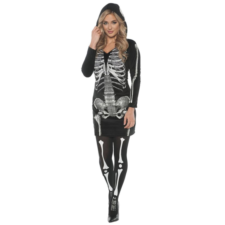 Skeletal Hoodie Dress Adult Costume Medium - adult halloween costumes Halloween