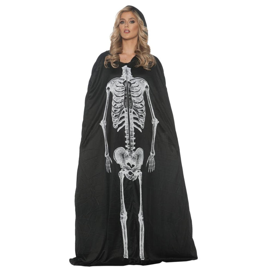 Skeleton Cape Adult Costume - Halloween costumes Robes Capes & Wings