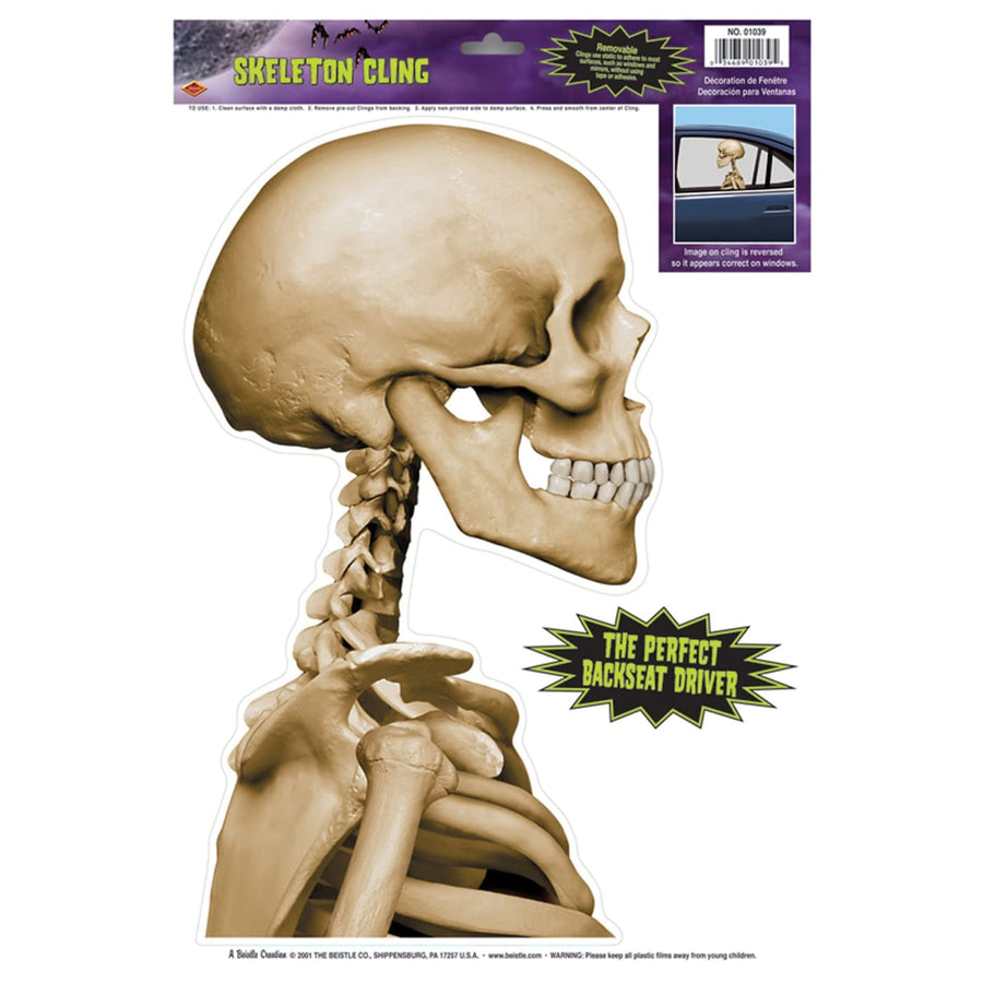 Skeleton Car Cling - Decorations & Props Halloween costumes haunted house