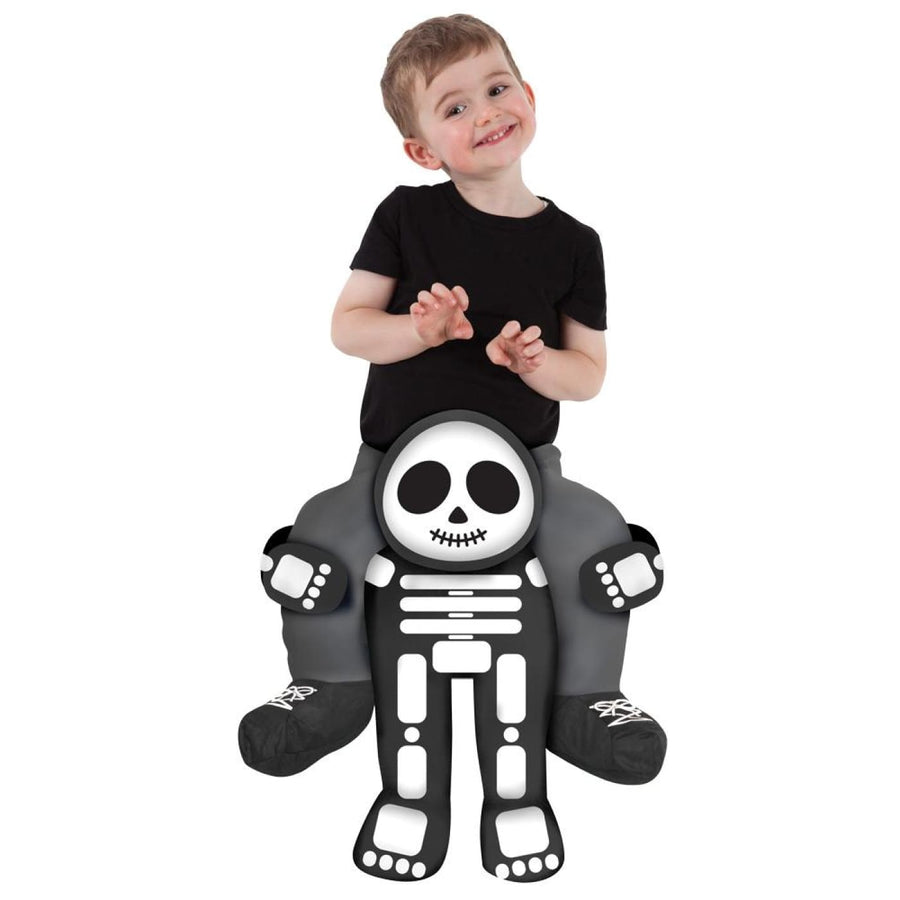 Skeleton Toddler Costume Piggyback - Funny Costume Halloween costumes New