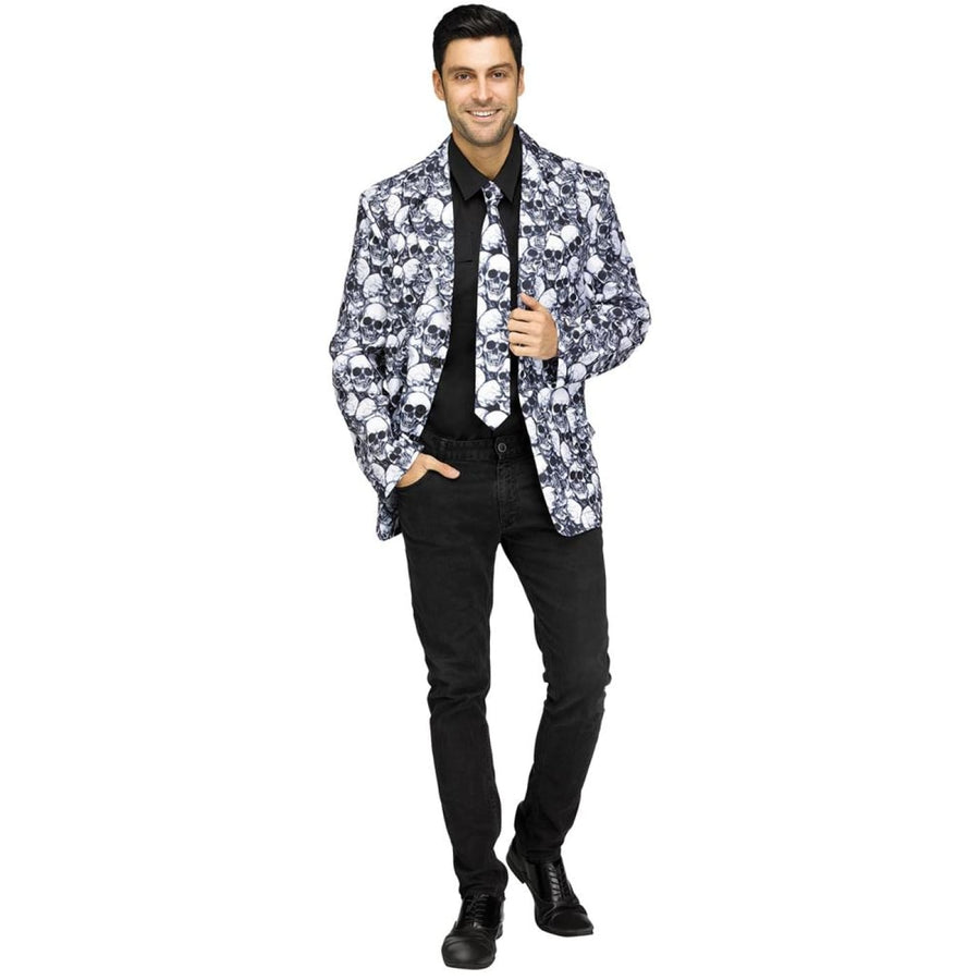 Skull Jacket Tie Adult Costume - adult halloween costumes halloween costumes