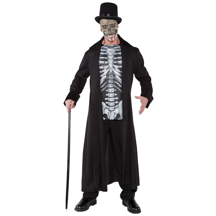 Skull Master Adult Costume XXlarge - adult halloween costumes Ghoul Skeleton &
