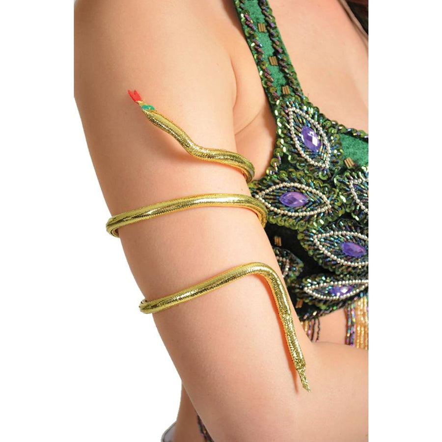 Snake Arm Band Gold - Egyptian Costume Fashion Jewelry Halloween costumes