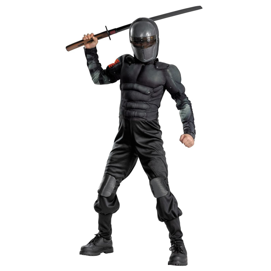Snake Eyes Class Muscle Boys Costume 7-8 - Boys Costumes boys Halloween costume
