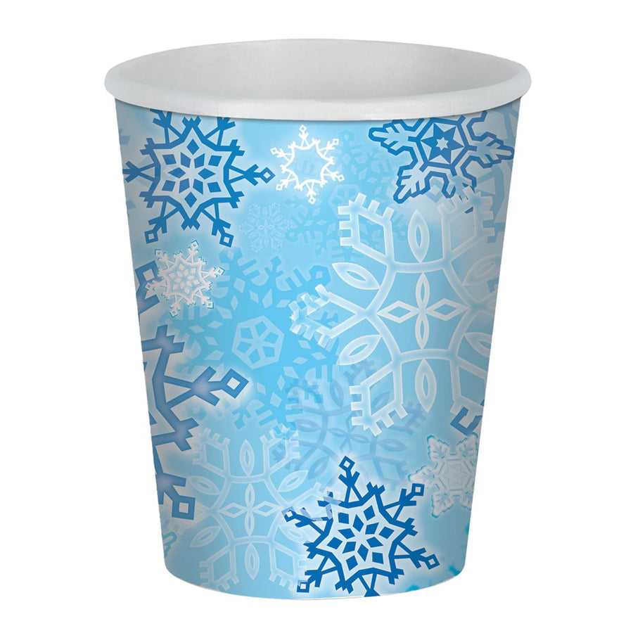 Snowflake Beverage 9 Oz Cups -Set of 8 - Decorations & Props Halloween costumes