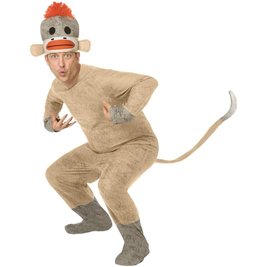 Sock Monkey Adult - Animal & Insect Costume Mens Costumes Sock Monkey Adult