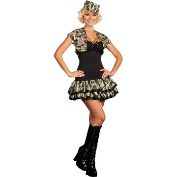 Soldier Girl Md Size 6-10 - adult halloween costumes female Halloween costumes