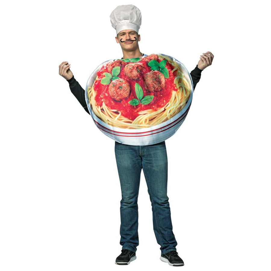 Spaghetti and Meatballs Get Real Adult Costume - adult halloween costumes Food &