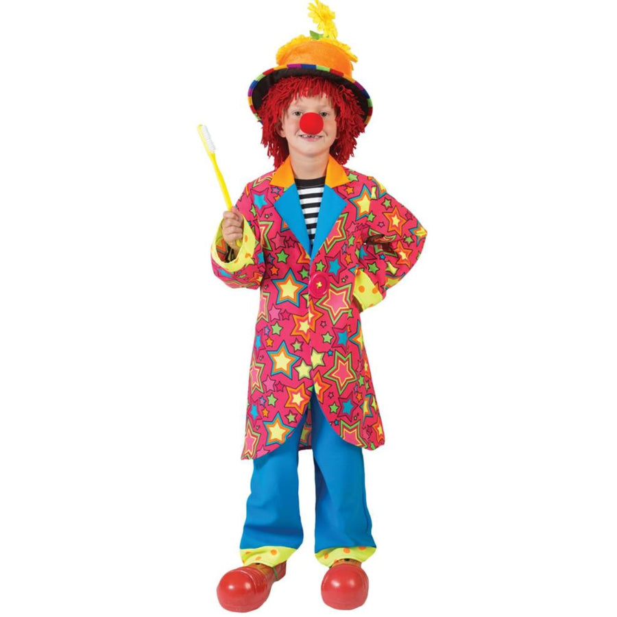 Sparkling Star Clown Boys Costume Size 6 - Boys Costumes Clown & Mime Costume