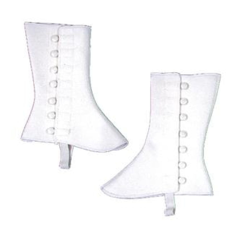 Spats 9In High Vinyl Sm Md White - 20s - 40s Costume Halloween costumes Shoes &