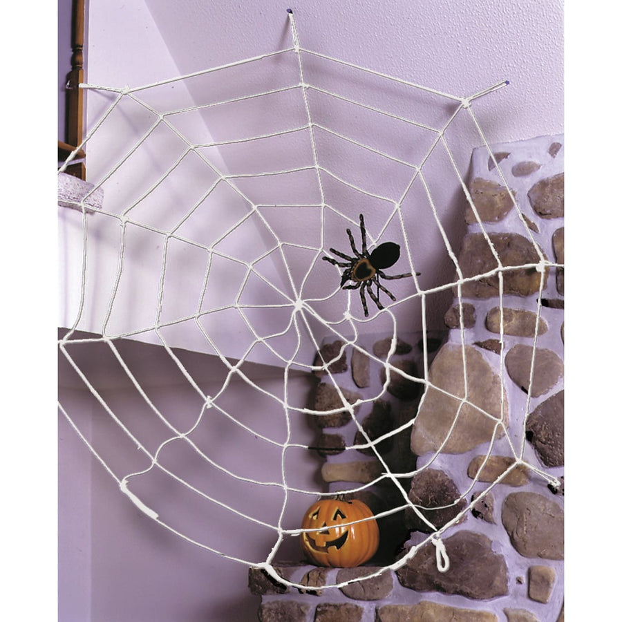 Spider Web 9Ft Rope White - Decorations & Props haunted house decorations