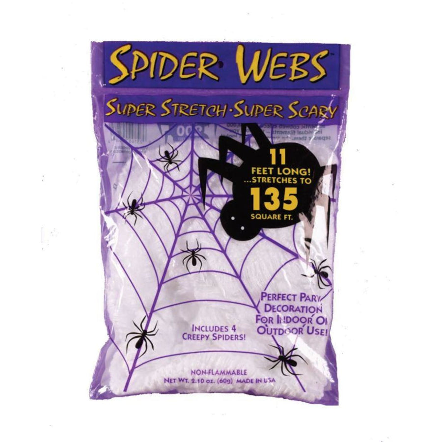 Spider Web W Spiders 40Gr - Decorations & Props Halloween costumes haunted house