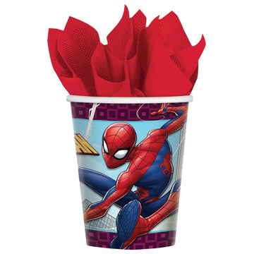 Spiderman 9 Oz Paper Cups -Set of 8 - Birthday Party Decorations Birthday Party