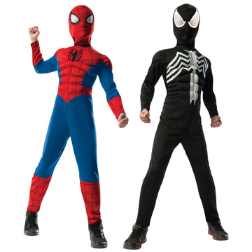 Spiderman Black Suit Reversable Deluxe Boys Costume Medium - Boys Costume