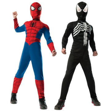 Spiderman Black Suit Reversable Deluxe Boys Costume Small - Boys Costume