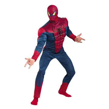 Spiderman Classic Muscle Adult Costume Xlarge 50-52 - adult halloween costumes