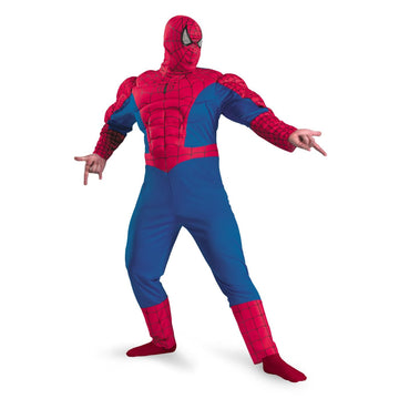 Spiderman Classic Muscle Chest - adult halloween costumes halloween costumes