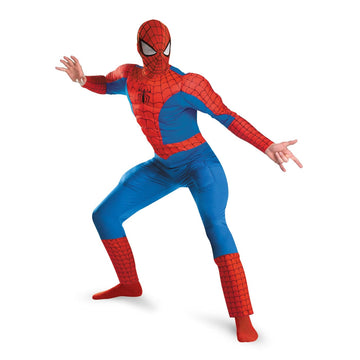 Spiderman Deluxe Muscle Adult Costume 50-52 - adult halloween costumes halloween