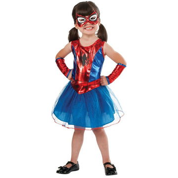 Spiderman Girl Toddler Costume 2T-4T - Halloween costumes Spiderman Costume