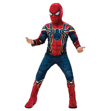 Spiderman Iron Spider Infinity War Boys Costume Deluxe Lg - Boys Costume