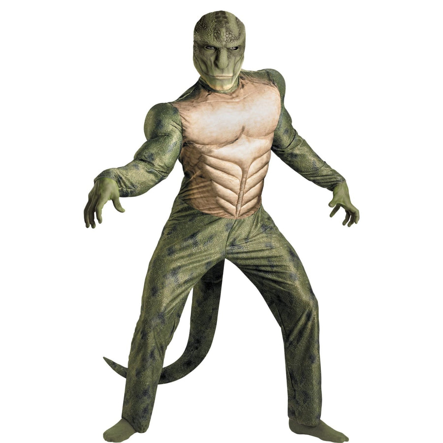 Spiderman Lizard Classic Muscle Adult Costume 42-46 - adult halloween costumes