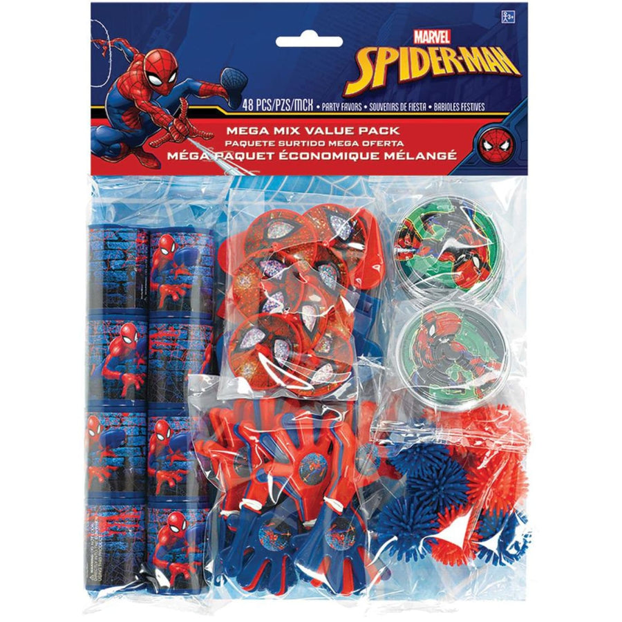 Spiderman Party Favors Pack - Birthday Party Decorations Birthday Party Plates