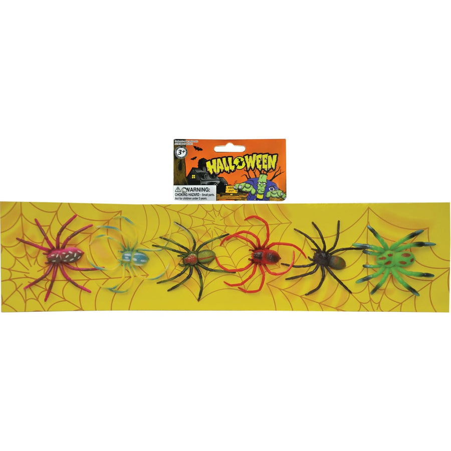 Spiders Strip Of 6 - Decorations & Props Halloween costumes haunted house