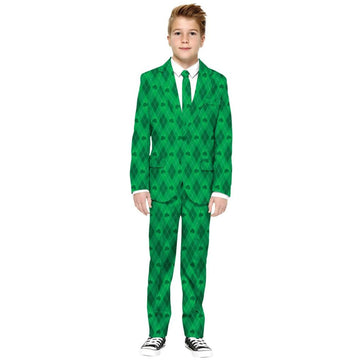 St Patricks Green On Green Boys Costume Small - Boys Costumes New Costume