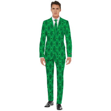 St Pats Green On Green Mens Costume Xlarge - Mens Costumes Mens Plus Size