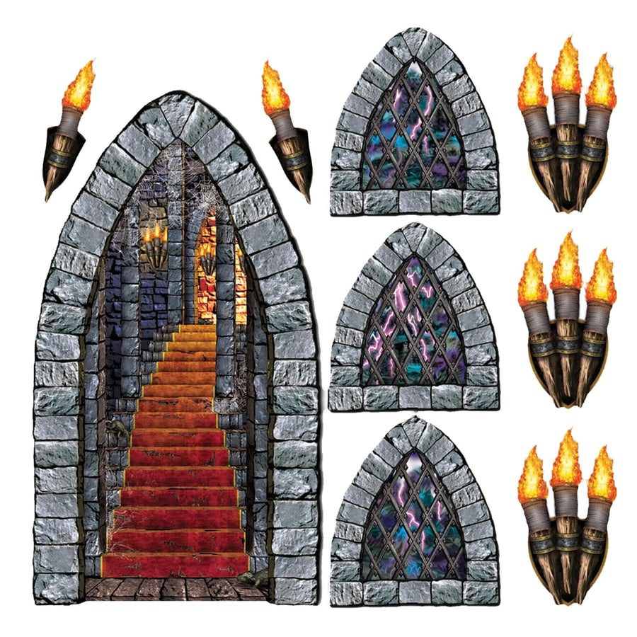 Stairway Window Torch Props - Decorations & Props Halloween costumes haunted