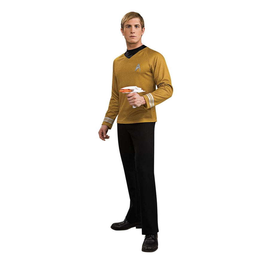 Star Trek Movie Dlx Shirt Gold Lg - adult halloween costumes halloween costumes
