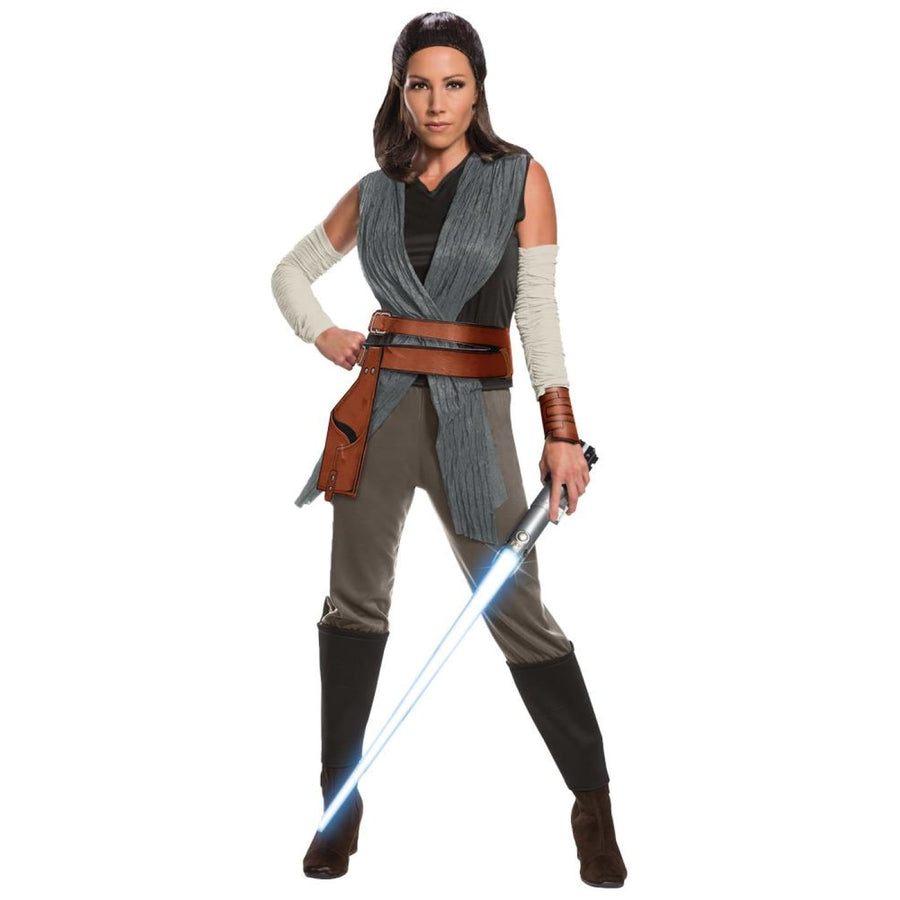 Star Wars Rey The Last Jedi Womens Costume Lg - adult halloween costumes