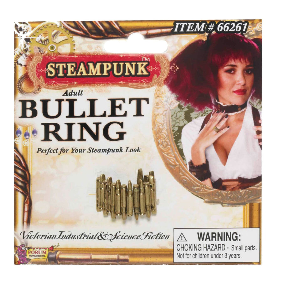 Steampunk Bullet Ring - Fashion Jewelry Halloween costumes