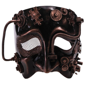Steampunk Male Bronze Mask - Costume Masks Halloween Mask rubber Mask scary mask
