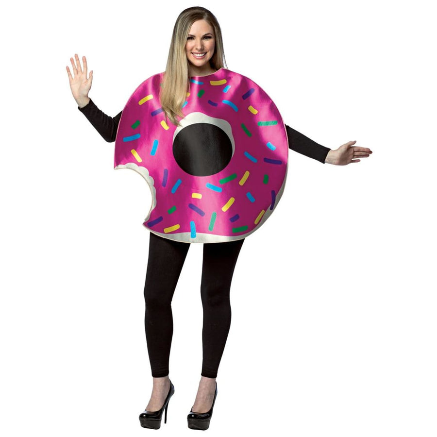 Strawberry Doughnut With Sprinkles Adult Costume - adult halloween costumes