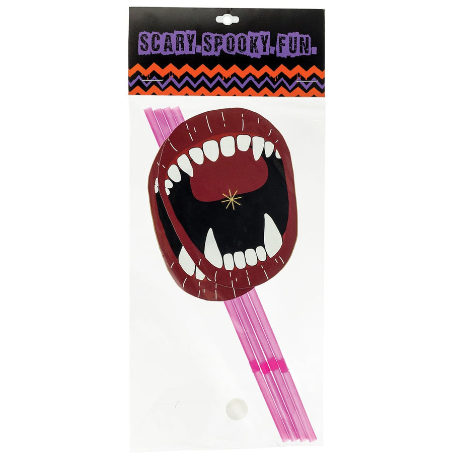 Straws With Fangs Paper Mouth - Costume Makeup Halloween costumes Halloween