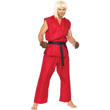 Street Fighter Ken Adult Costume Small-Medium - adult halloween costumes