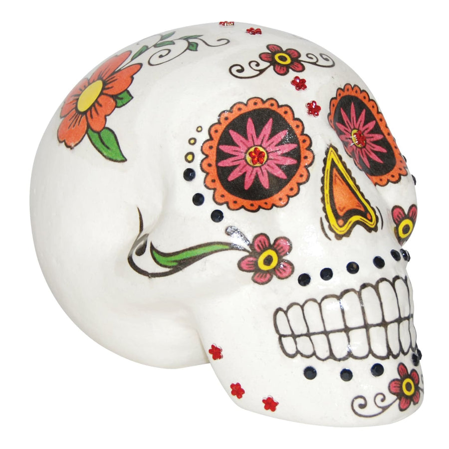 Sugar Skull Warm Colors 7 In - Halloween costumes
