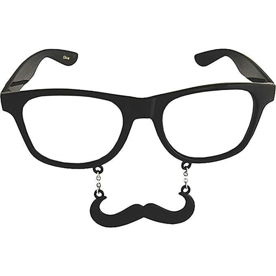 Sunstache Black Stache Clear - New Costume Sunstache Black Stache Clear