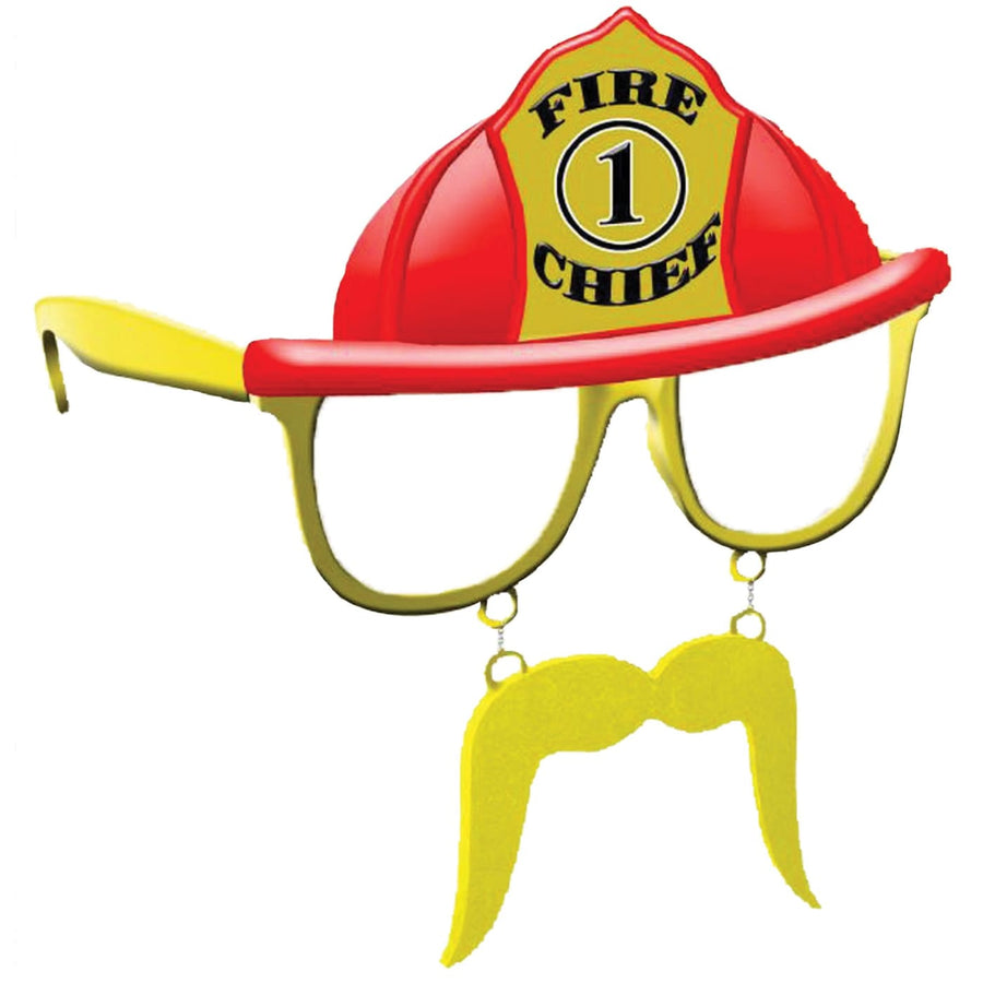 Sunstache Fire Chief - Glasses Gloves & Neckwear Halloween costumes Military &