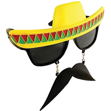 Sunstache Mexican - Glasses Gloves & Neckwear Halloween costumes Wild West &
