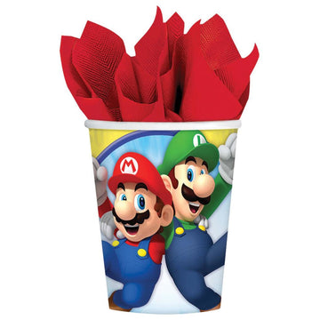 Super Mario 9 Oz Paper Cups -Set of 8 - Birthday Party Decorations Birthday